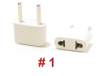 1 ungrounded plug adapter. Black Bedroom Furniture Sets. Home Design Ideas