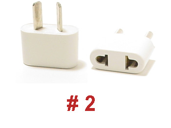 2 ungrounded plug adapter. Black Bedroom Furniture Sets. Home Design Ideas