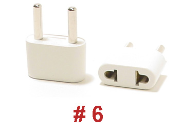 6 ungrounded plug adapter. Black Bedroom Furniture Sets. Home Design Ideas