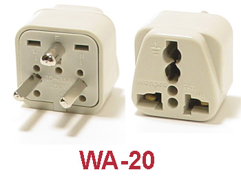 wa 20 grounded plug adapter. Black Bedroom Furniture Sets. Home Design Ideas